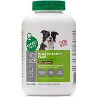 GNC Pets Ultra Mega Multivitamin Plus Beef Flavor Chewable Dog Supplement, 180 count