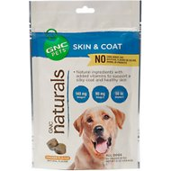 GNC Pets Naturals Skin & Coat Tender Bites Chicken Flavor Dog Supplement, 50 count