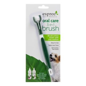 Espree Oral Care 3-in-1 Dog Toothbrush