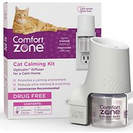 Comfort Zone 2X Pheromone Formula Calming Diffuser Kit for Cat Calming, 1 Diffuser, 1 Refill