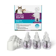 Comfort Zone 2X Pheromone Formula Multicat Diffuser Kit for Cat Calming, 3 Diffusers, 6 Refills