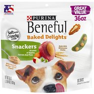 Purina Beneful Baked Delights Snackers Dog Treats, 36-oz pouch