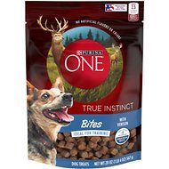 Purina ONE True Instinct Bites with Venison Dog Treats, 20-oz pouch