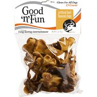 Good 'n' Fun Beef Flavored Rawhide Chips Dog Chews, 15 count