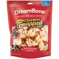 DreamBone Mini Chicken Wrapped Bones Dog Treats, 36 count