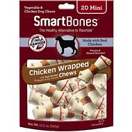 SmartBones Mini Chicken Wrapped Bones Dog Treats, 20 count