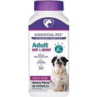 21st Century Essential Pet Hip & Joint Chewable Tablets Adult Dog Supplement, Age 3 & Up, 60 count