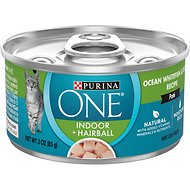 Purina ONE Indoor Advantage High Protein Ocean Whitefish & Rice Wet Cat Food, 3-oz, case of 24