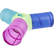 Frisco Peek-a-Boo Cat Chute Cat Toy, Colorful Tri-Tunnel