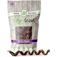 "Nature Gnaws Porky Springs 7 - 8"" Dog Treats, 12 count"