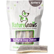 "Nature Gnaws Elk Antlers 5 - 7"" Dog Chews, 3 count"