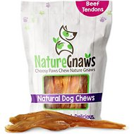 "Nature Gnaws Beef Tendon Chews 7 - 11"" Dog Treats, 6 count"