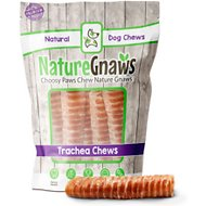 Nature Gnaws Trachea Jerky Wrapped Dog Treats, 5 count