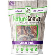 Nature Gnaws Beef & Pork Combo Dog Treats, 12 count