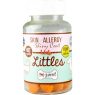 Licks SKIN & ALLERGY + Shiny Coat Littles Pet Gummi Chewable Dog Supplement, 45 count