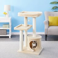 Frisco 42-in Heavy Duty Cat Tree, Cream