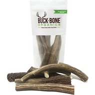 Buck Bone Organics Premium Whole Deer Antler Dog Chews, 6 count, Medium