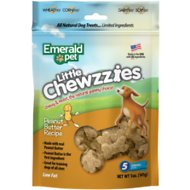 Emerald Pet Little Chewzzies Peanut Butter Recipe Dog Treats, 5-oz bag