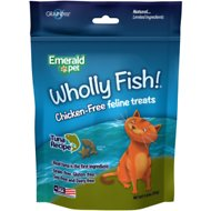 Emerald Pet Wholly Fish! Tuna Recipe Cat Treats, 3-oz bag