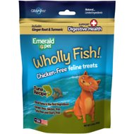 Emerald Pet Wholly Fish! Digestive Health Tuna Recipe Cat Treats, 3-oz bag