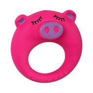 Smart Pet Love Puppy's First Pink Pig Latex Ring Dog Toy
