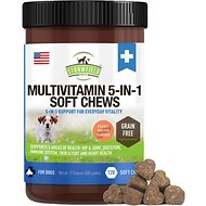 Strawfield Pets Multivitamin 5-in-1 Grain-Free Soft Chews Dog Supplement, 120 count