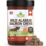 Strawfield Pets Wild Alaskan Salmon Chews Grain-Free Dog Supplement, 120 count