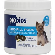Probios Pro-Pill Pods Peanut Butter Flavored Dog Treats, Small, 30 count