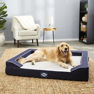 Sealy Lux Premium Orthopedic Bolster Dog Bed w/Removable Cover