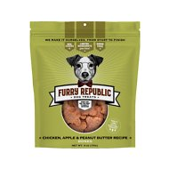 Furry Republic Bones Chicken, Apple & Peanut Butter Recipe Dog Treats, 6-oz bag