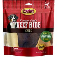 Cadet Premium Grade Assorted Rawhide Chips Dog Treats, 1-lb bag