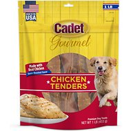 Cadet Premium Chicken Tenders Jerky Dog Treats, 1-lb bag