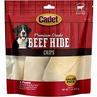 Cadet Premium Grade Rawhide Chips Dog Treats, 1-lb bag