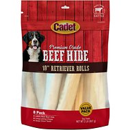 Cadet Premium Grade Rawhide Retriever Rolls Dog Treat, 2-lb bag