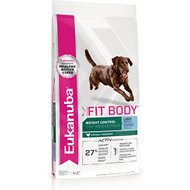 Eukanuba Fit Body Weight Control Chicken Formula Large Breed Dry Dog Food, 30-lb bag