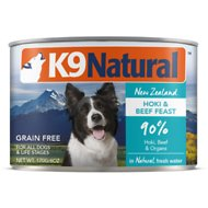 K9 Natural Hoki & Beef Grain Free Canned Dog Food, 6-oz, case of 24