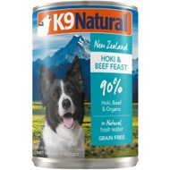 K9 Natural Hoki & Beef Grain Free Canned Dog Food, 13-oz, case of 12