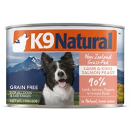 K9 Natural Lamb & King Salmon Grain Free Canned Dog Food, 6-oz, case of 24