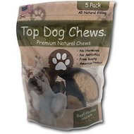 Top Dog Chews Peanut Butter Filled Cow Hooves Dog Treat, 5 count