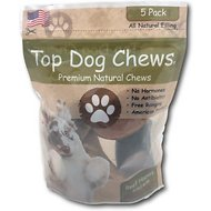 Top Dog Chews Salmon Jerky Filled Cow Hooves Dog Treat, 5 count