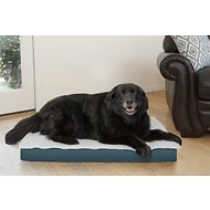 FurHaven Deluxe Outdoor Convertible Orthopedic Pet Bed, Marine Blue, Large