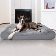 FurHaven Giant Ultra Plush Luxe Lounger Orthopedic Pet Bed, Gray, Giant