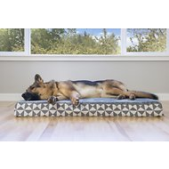 FurHaven Plush Top Kilim Deluxe Orthopedic Pet Bed, Pyramid Gray, Extra Large
