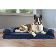 FurHaven Quilted Memory Top Sofa Pet Bed, Navy, Jumbo