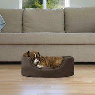 FurHaven Snuggle Terry & Suede Cat & Dog Bed w/Removable Cover