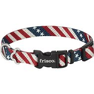 Frisco Patterned American Flag Dog Collar, 10 - 14 inches