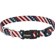 Frisco Patterned American Flag Dog Collar, 14 - 20 inches