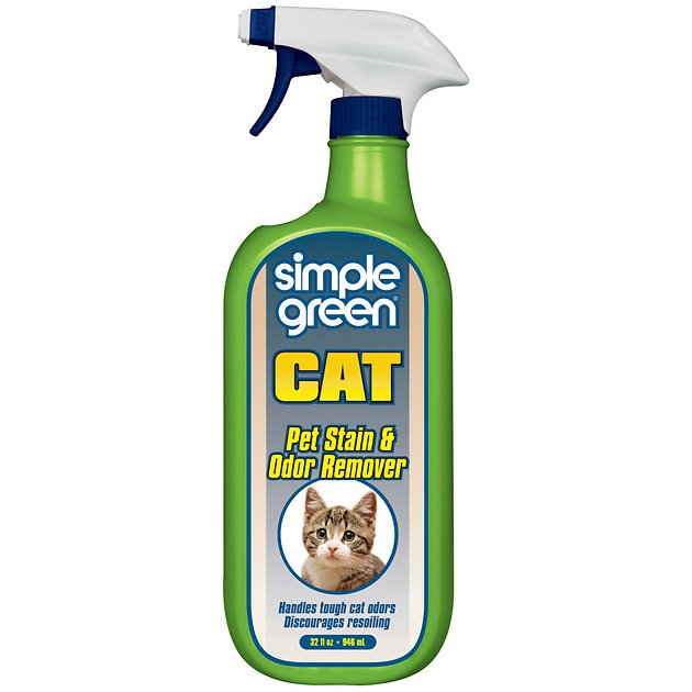 Simple Green Cat Stain & Odor Remover, 32-oz bottle - Chewy com
