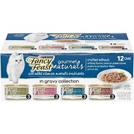 Fancy Feast Gourmet Naturals in Gravy Variety Pack Canned Cat Food, 3-oz, case of 12