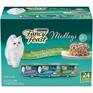 Fancy Feast Medleys Primavera Collection Variety Pack Canned Cat Food, 3-oz, case of 24